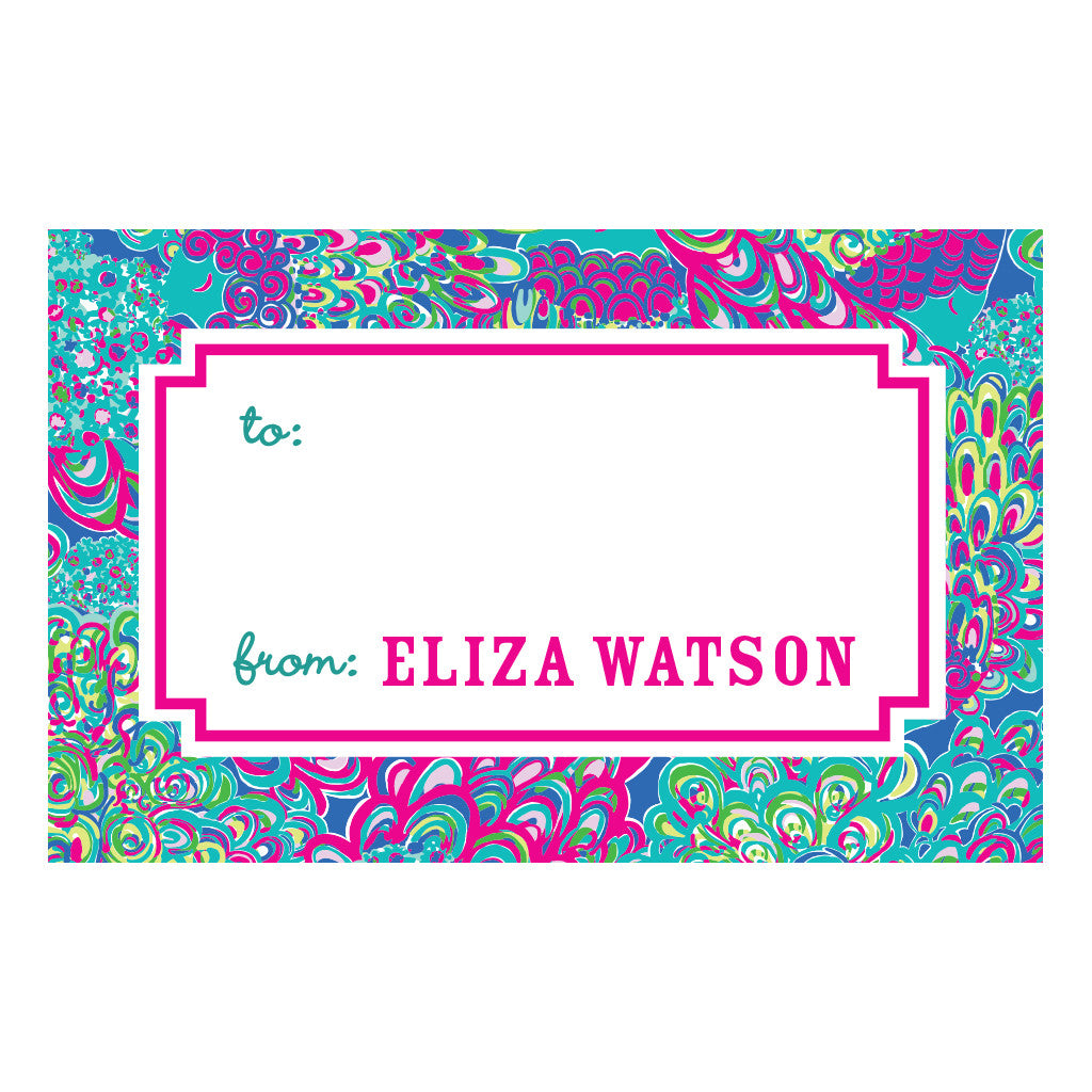 Lilly Pulitzer Personalized Stickers - Lilly's Lagoon - lifeguard-press