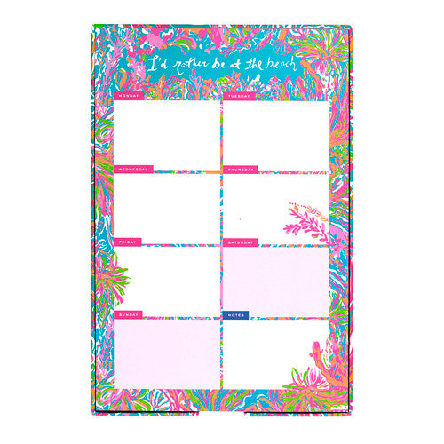 Lilly Pulitzer List Pad - Scuba to Cuba - lifeguard-press
