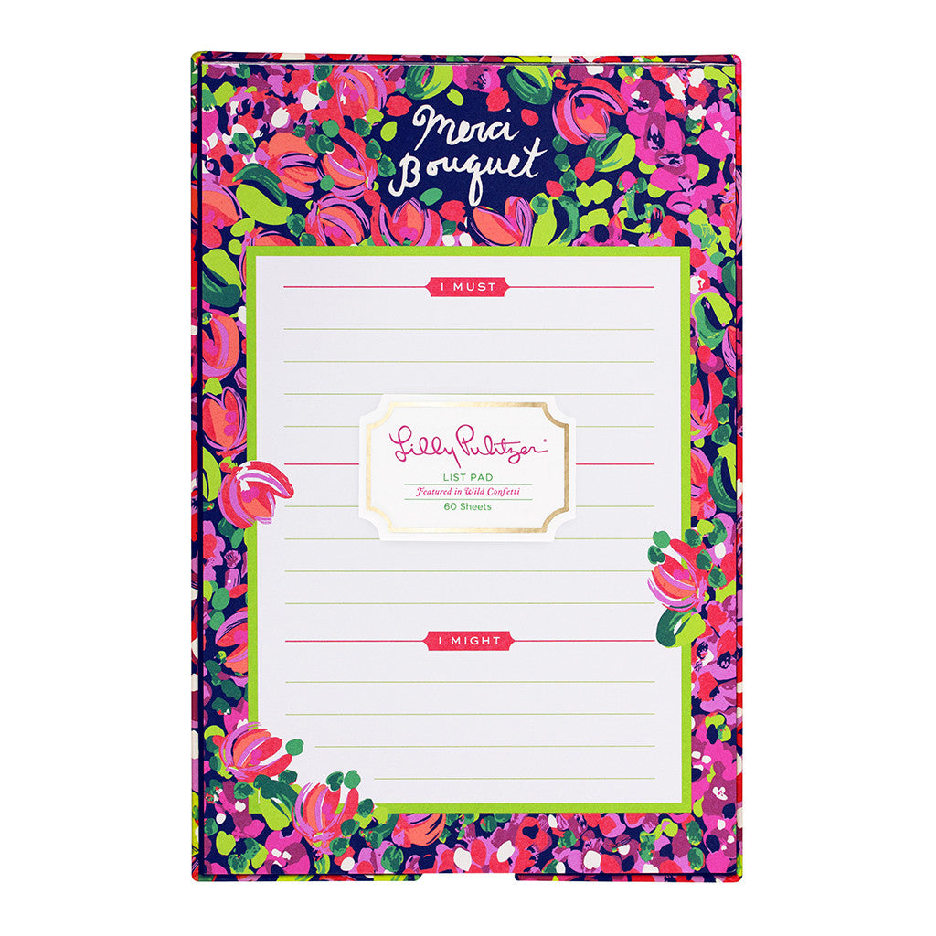 Lilly Pulitzer List Pad - Wild Confetti - lifeguard-press
