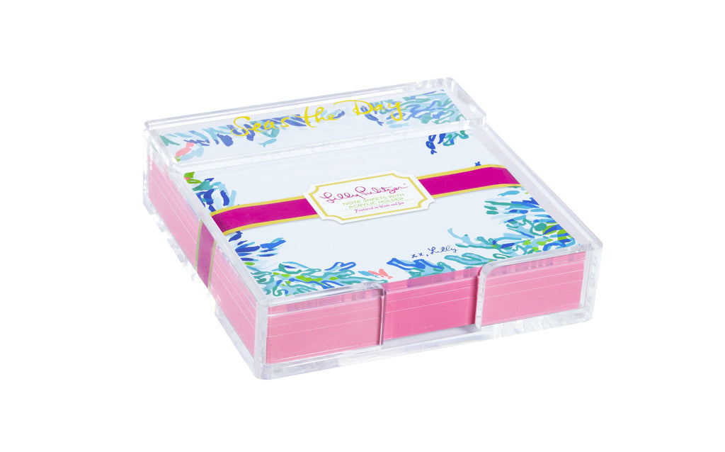 Lilly Pulitzer Small List Pad, wade and sea