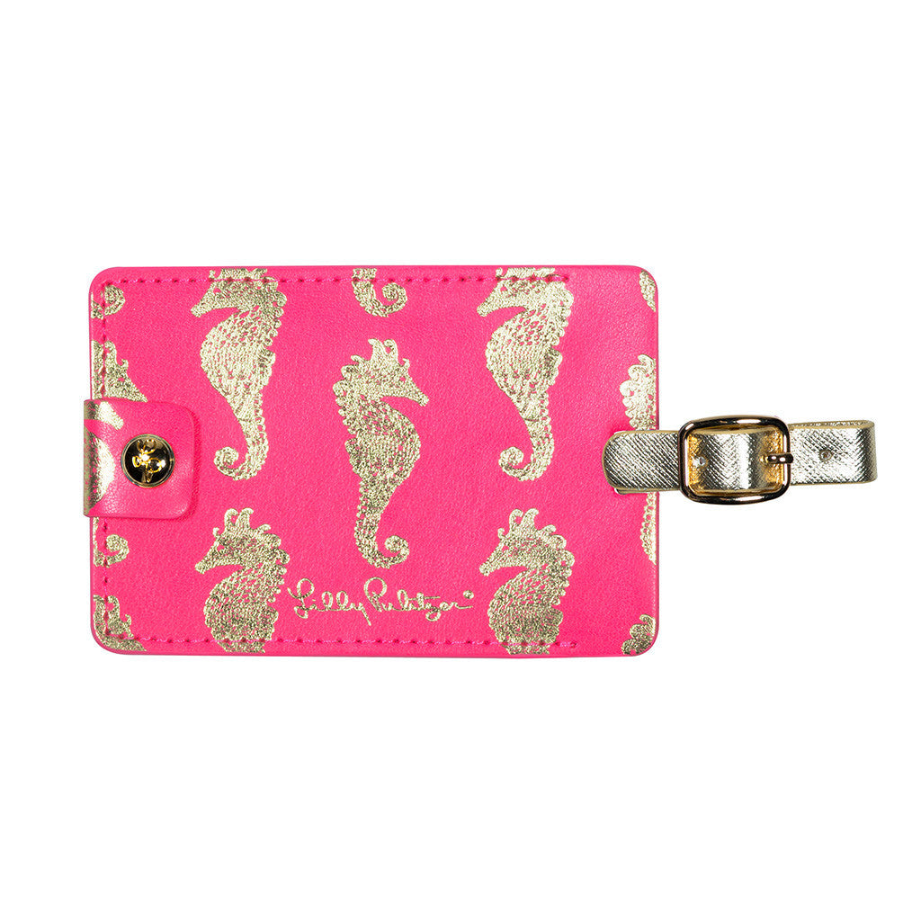 Lilly Pulitzer Luggage Tag, Horsin' Around
