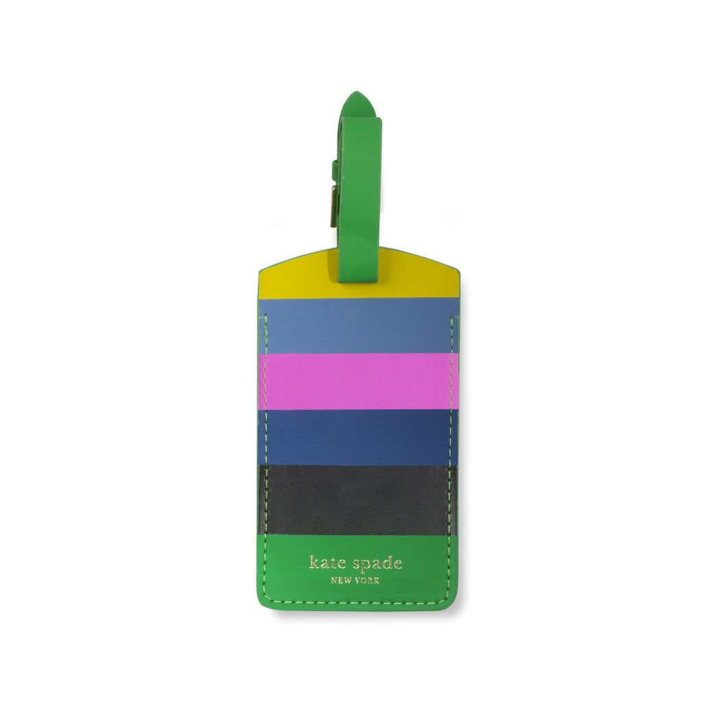 kate spade new york luggage tag, enchanted stripe