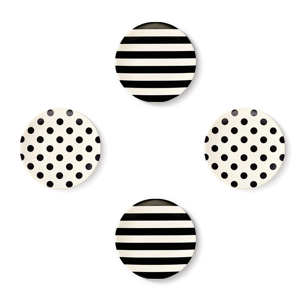 kate spade new york melamine tidbit plates - raise a glass - lifeguard-press