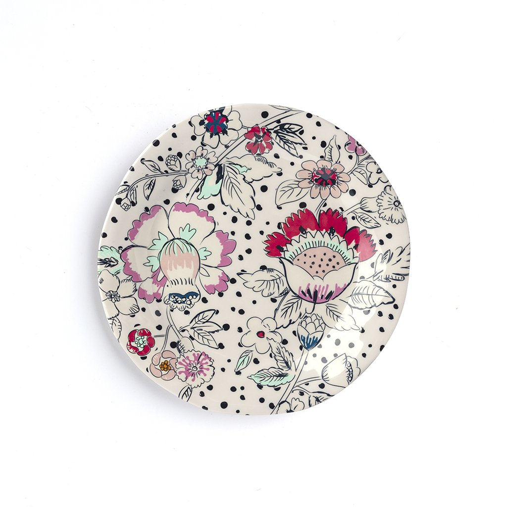 Vera Bradley Melamine Accent Plate - Coral Floral