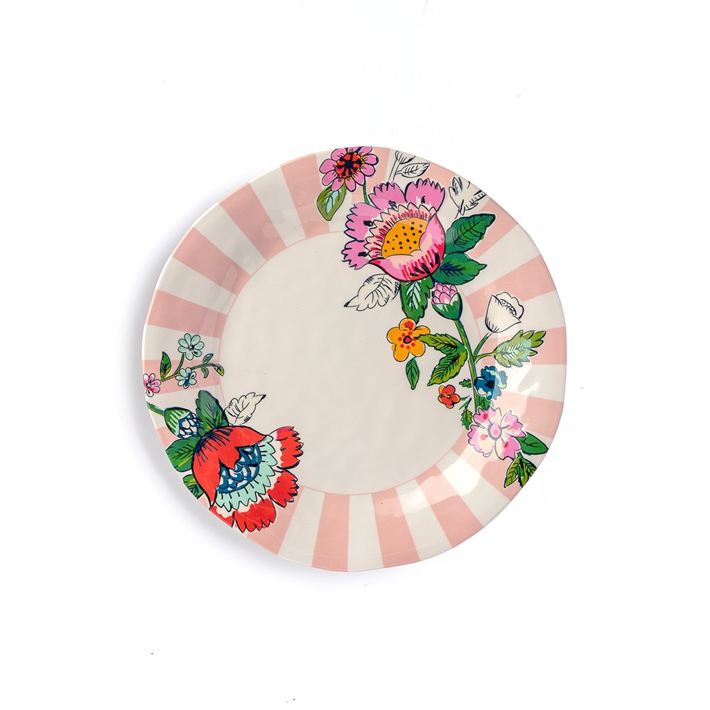 Vera Bradley Melamine Dinner Plate - Coral Floral  sc 1 st  Lifeguard Press : plates that go under dinner plates - pezcame.com