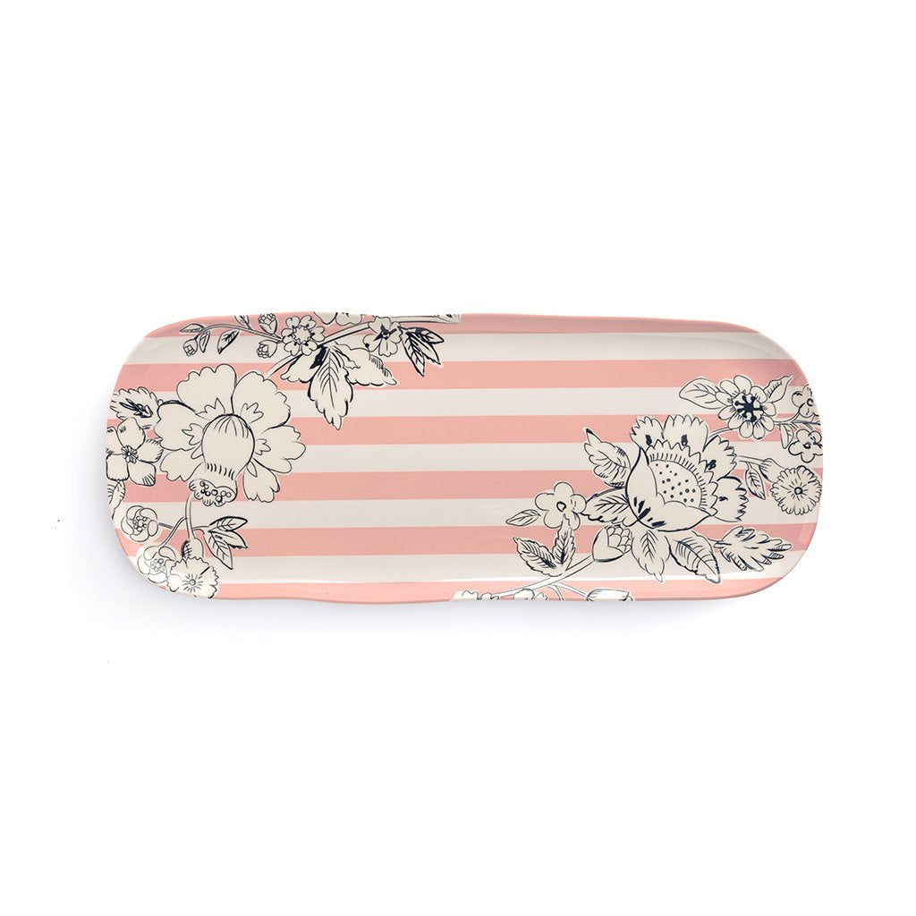 Vera Bradley Melamine Serving Tray - Midnight blush floral