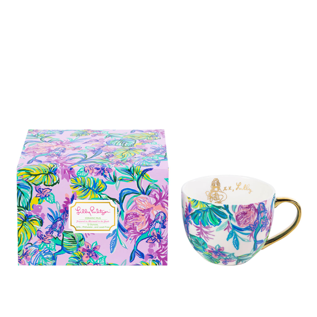 Lilly Pulitzer Ceramic Mug, Mermaid in the Shade