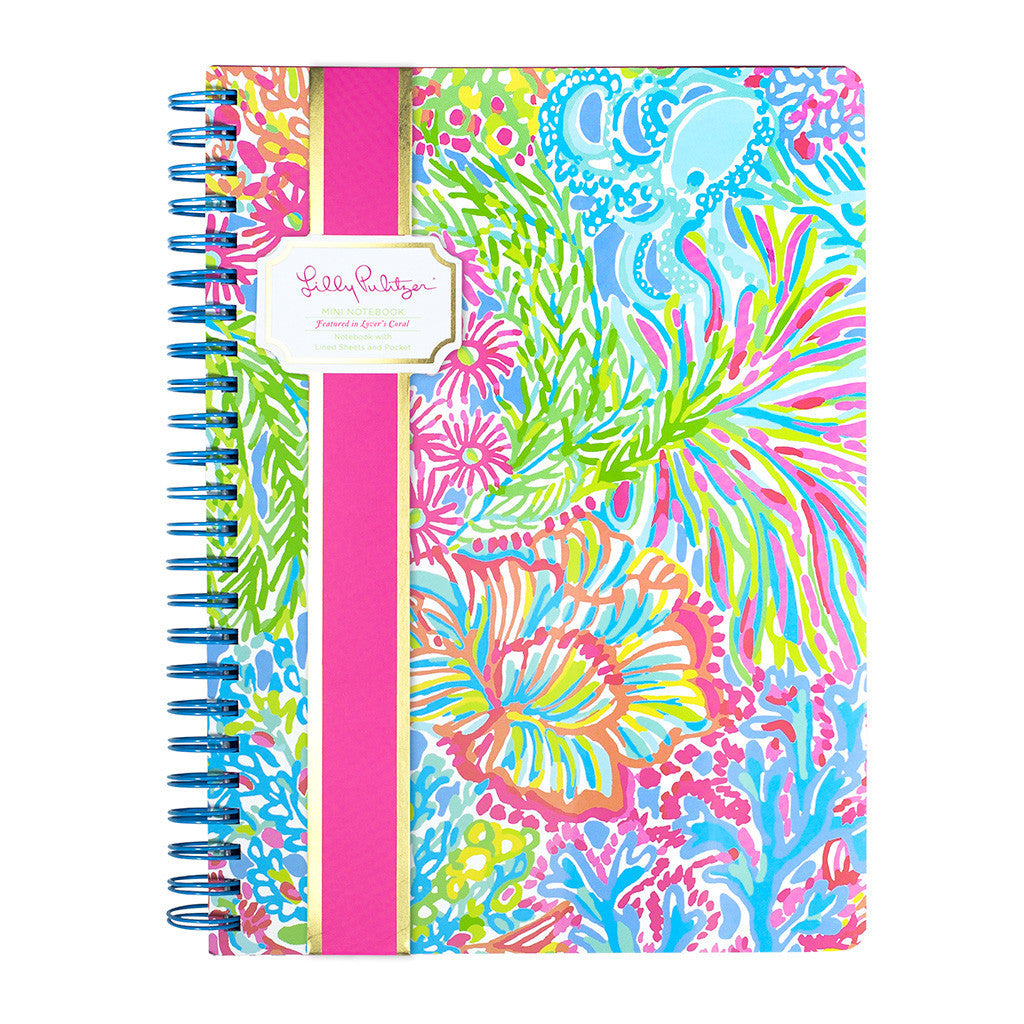 Lilly Pulitzer Mini Notebook - Lover's Coral - lifeguard-press - 1