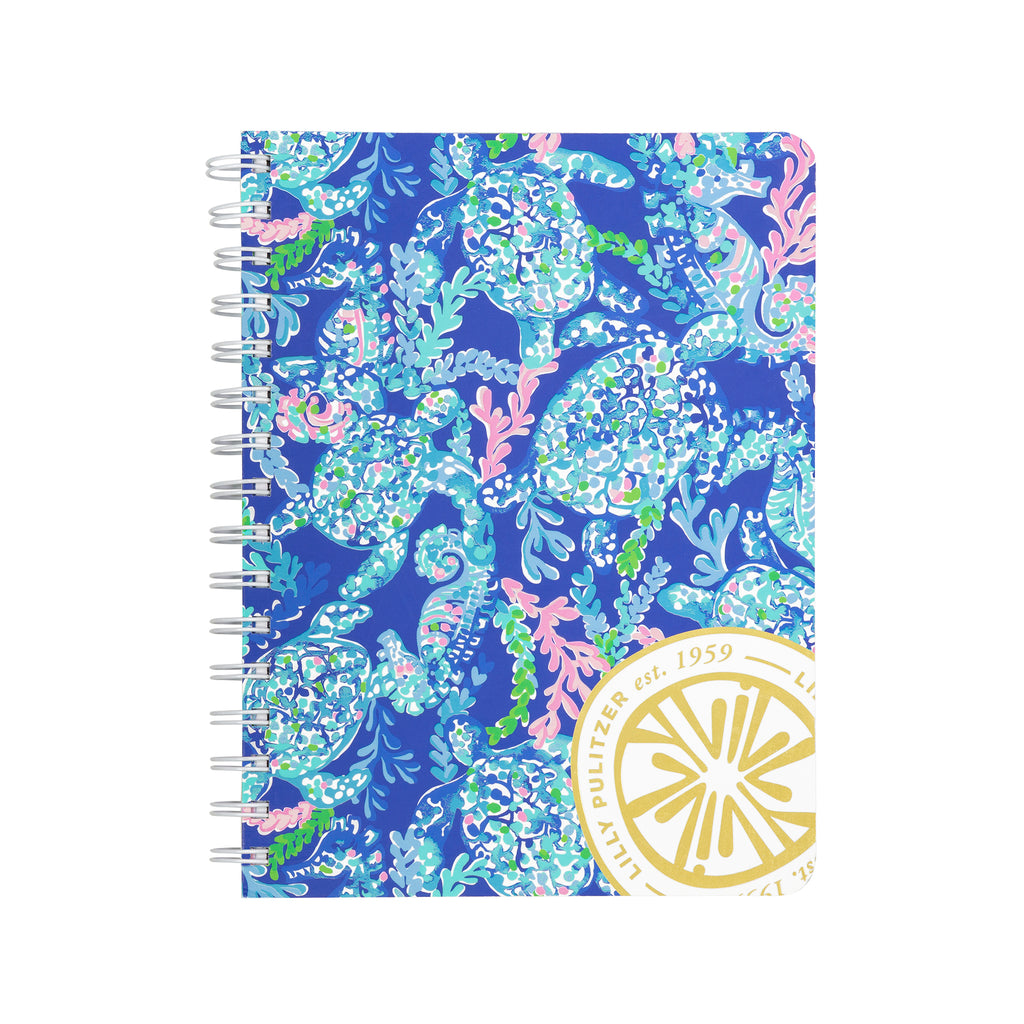 Lilly Pulitzer Mini Notebook, Turtle Villa