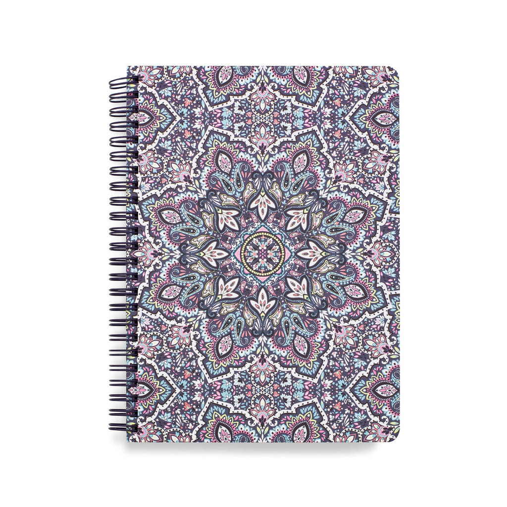 Vera Bradley Mini Notebook with Pocket, Bonbon Medallion