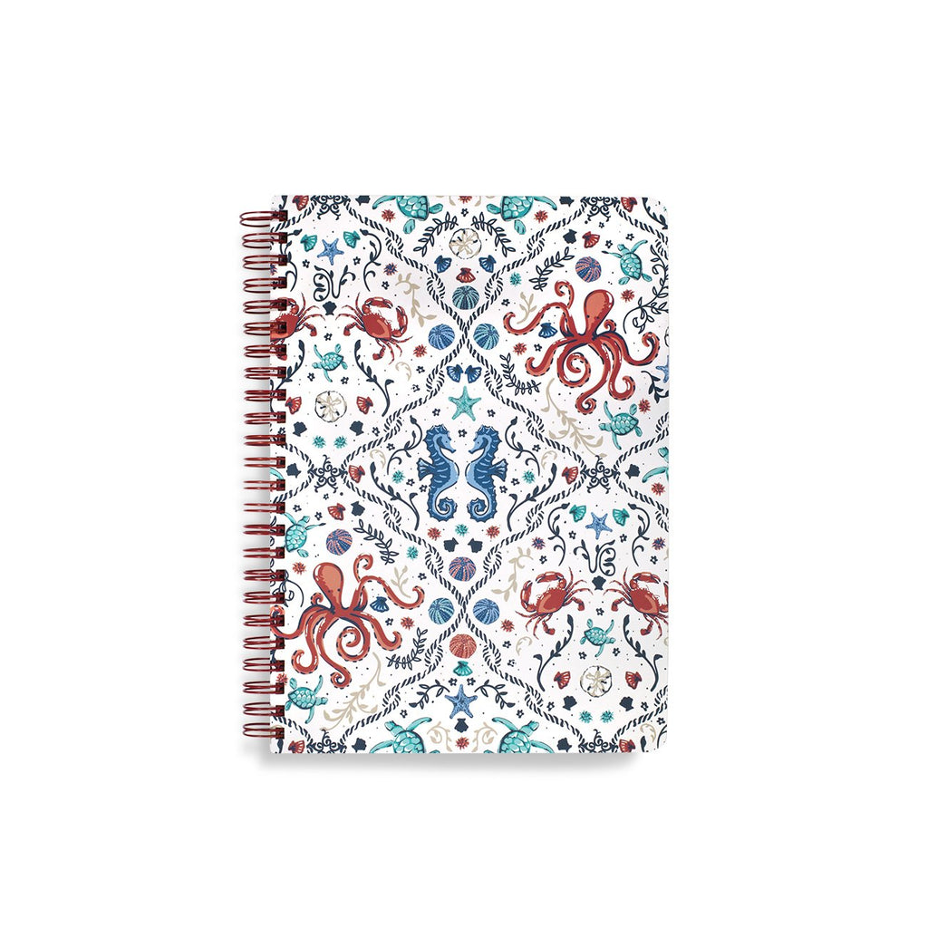 vera bradley mini notebook, sea life