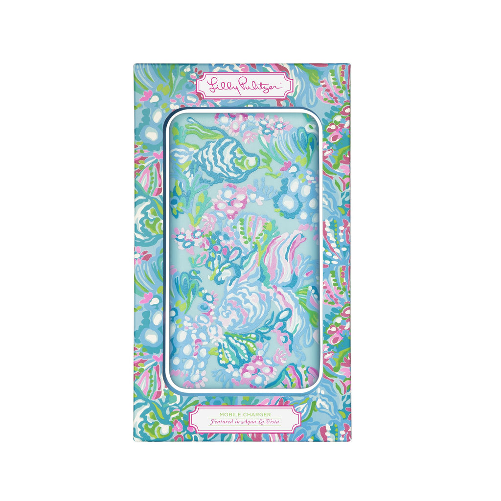 Lilly Pullitzer Mobile Charger, Aqua La Vista
