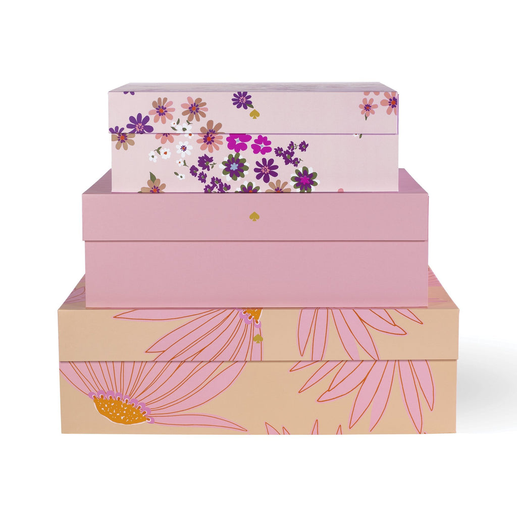 kate spade new york nesting boxes, falling flowers
