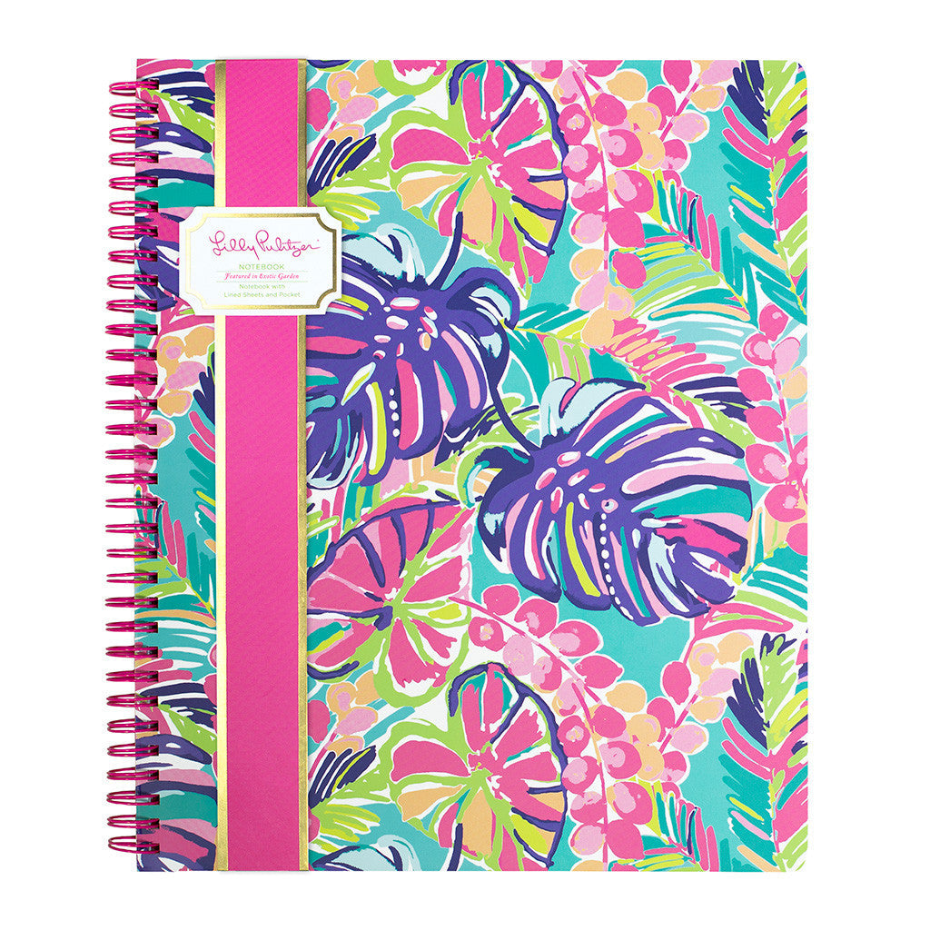 Lilly Pulitzer Large Notebook - Exotic Garden - lifeguard-press - 1