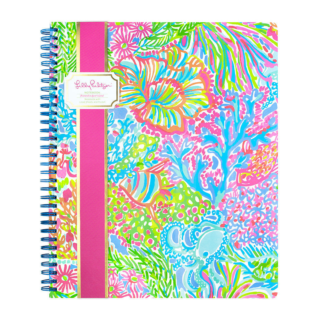 Lilly Pulitzer Large Notebook - Lover's Coral - lifeguard-press - 1