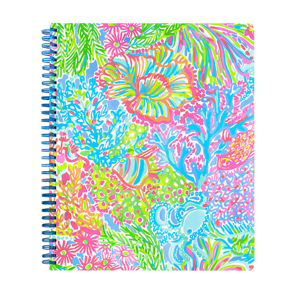 Lilly Pulitzer Large Notebook - Lover's Coral - lifeguard-press - 2