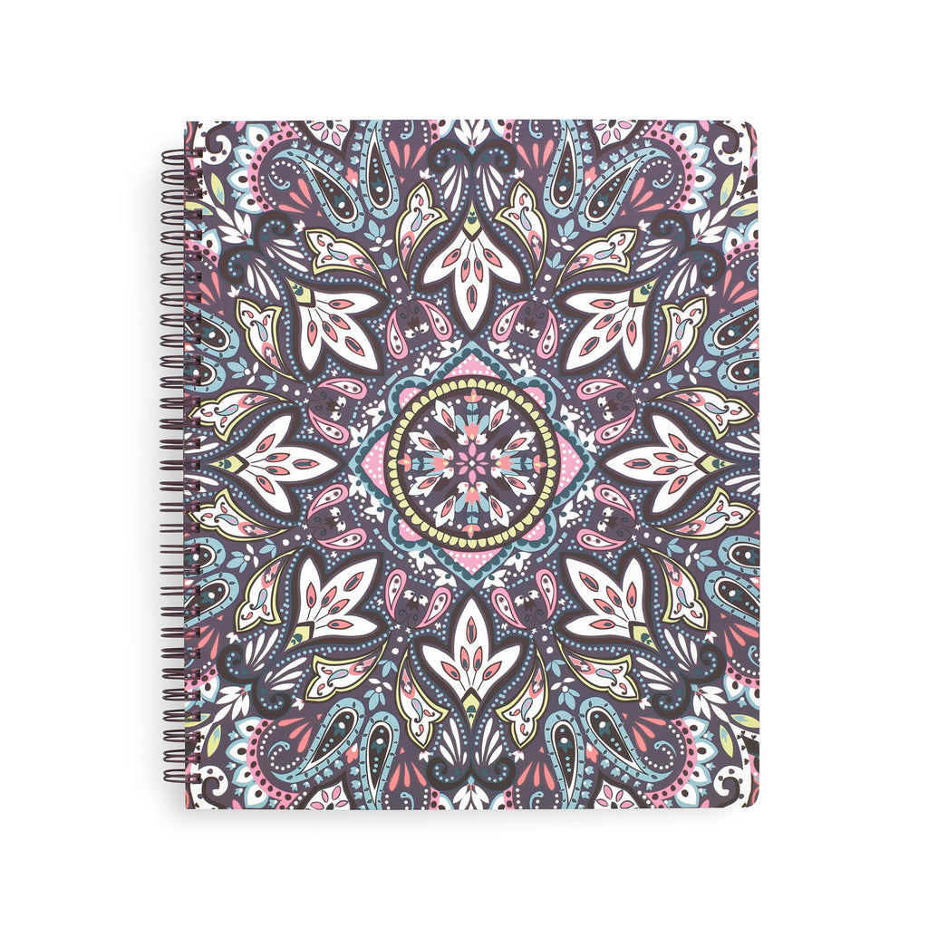 Vera Bradley Large Notebook with Pocket, Bonbon Medallion