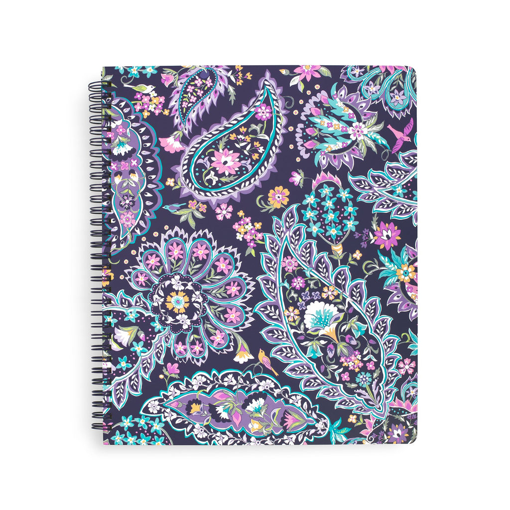 Vera Bradley Large Notebook with Pocket, French Paisley