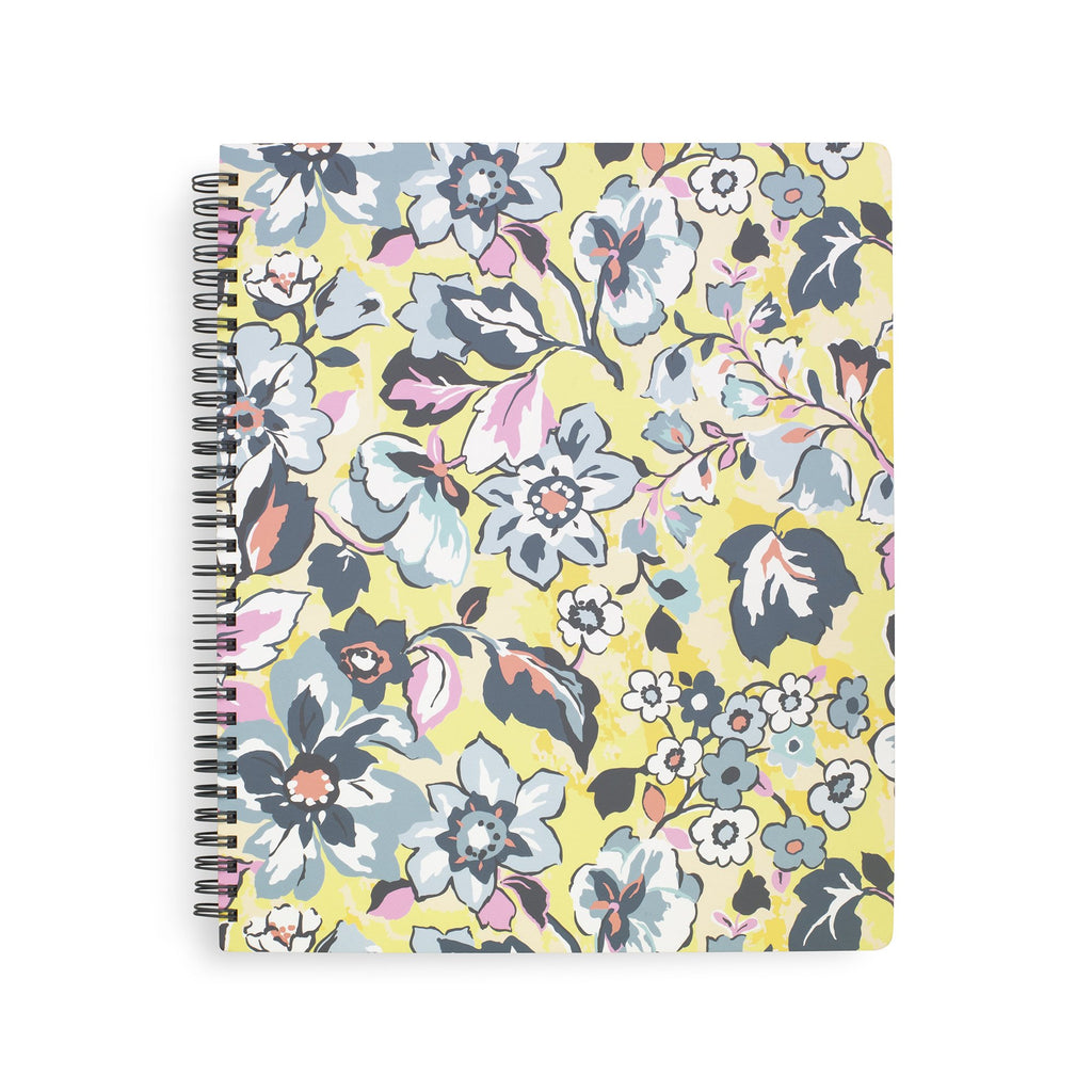 Vera Bradley Large Notebook with Pocket, Sunny Garden