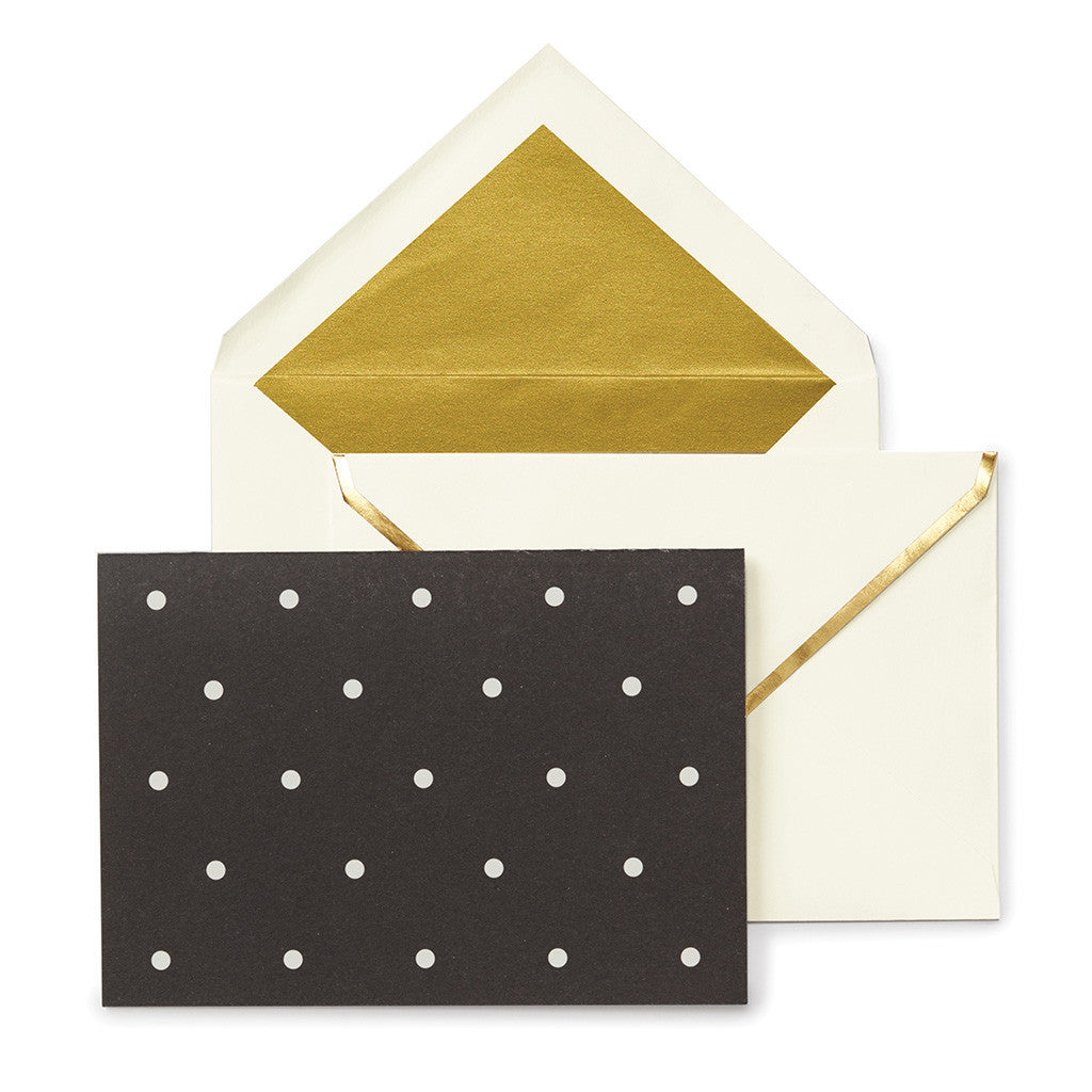 kate spade new york larabee dot assorted notecard set - lifeguard-press - 2