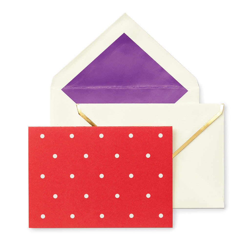 kate spade new york larabee dot assorted notecard set - lifeguard-press - 6