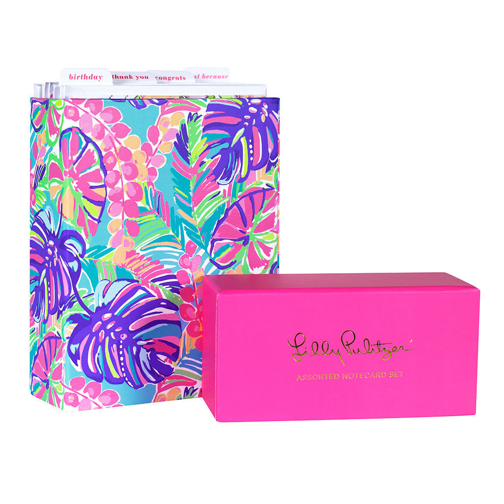 Lilly Pulitzer Assorted Notecard Set - lifeguard-press - 1
