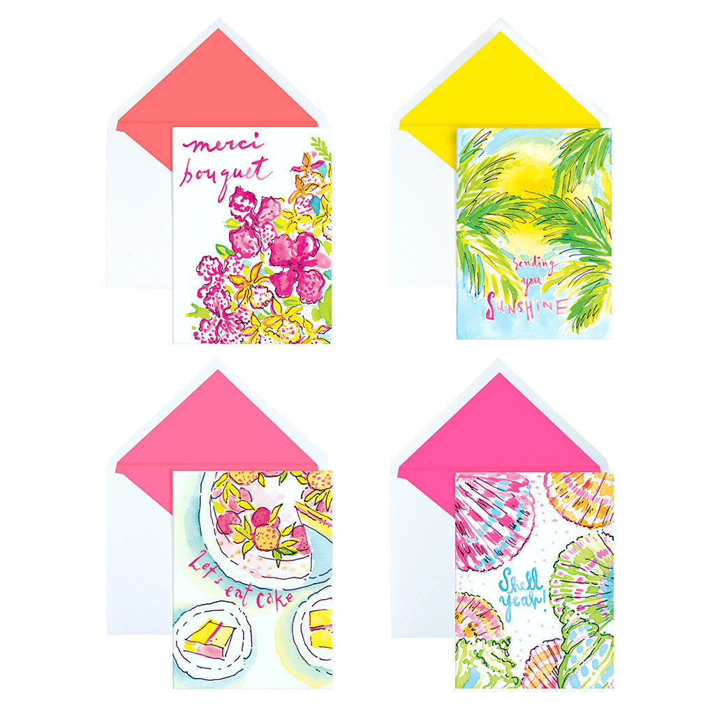 Lilly Pulitzer Assorted Notecard Set - lifeguard-press - 2