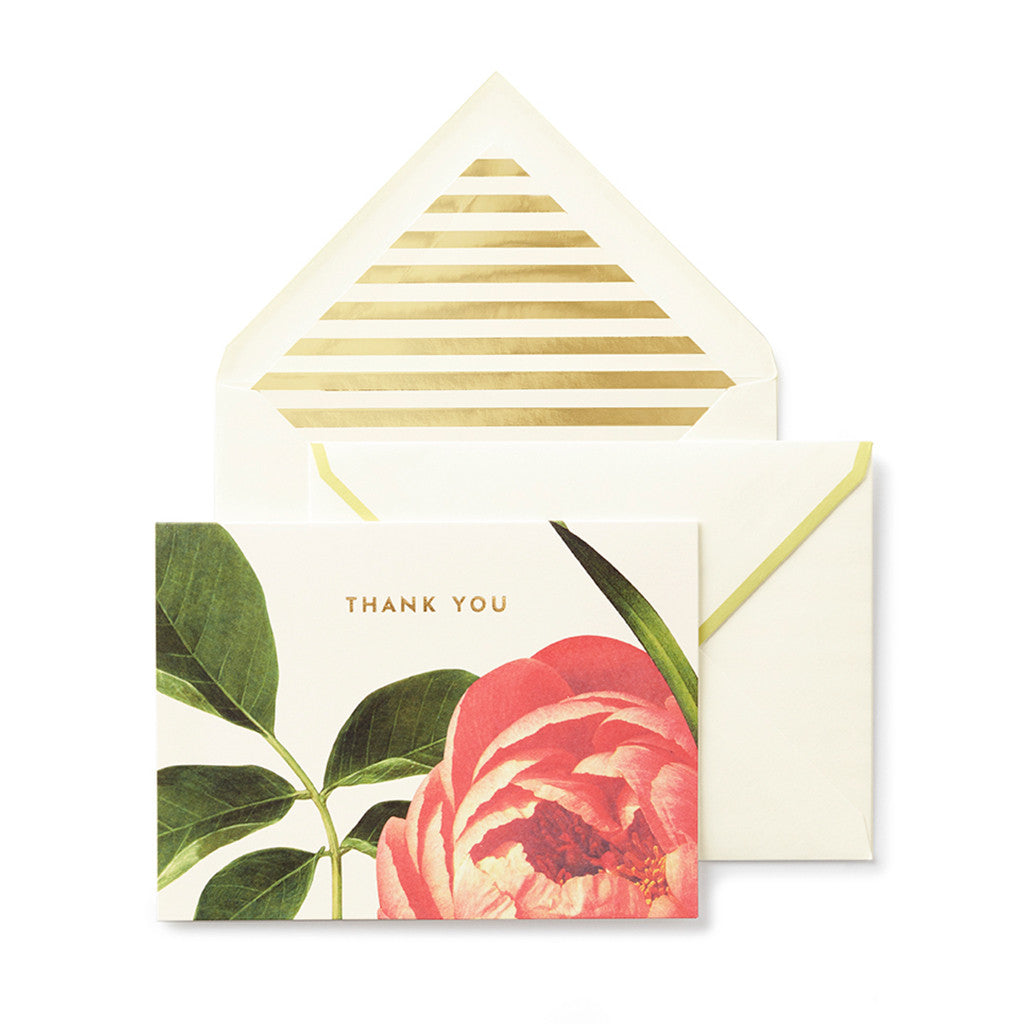 kate spade new york thank you notecard set - floral - lifeguard-press