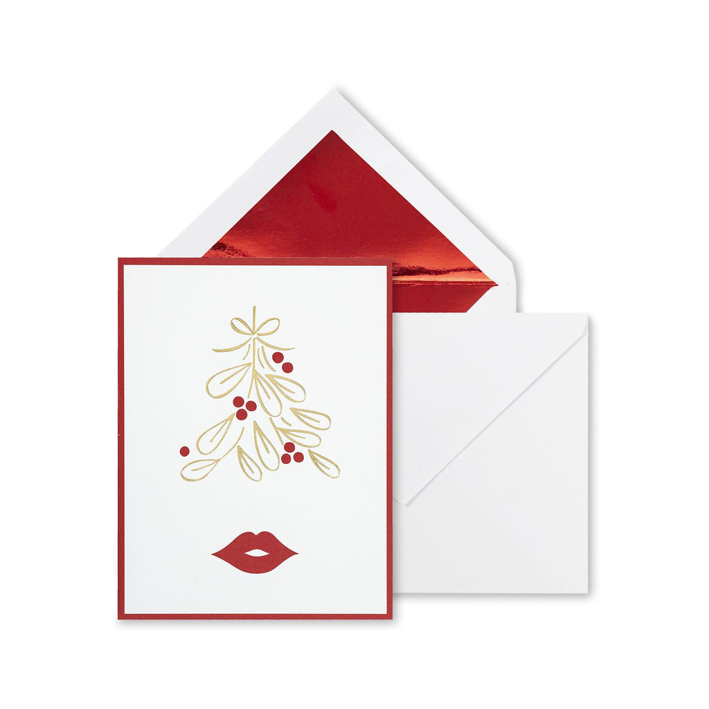 kate spade new york holiday card set, mistletoe