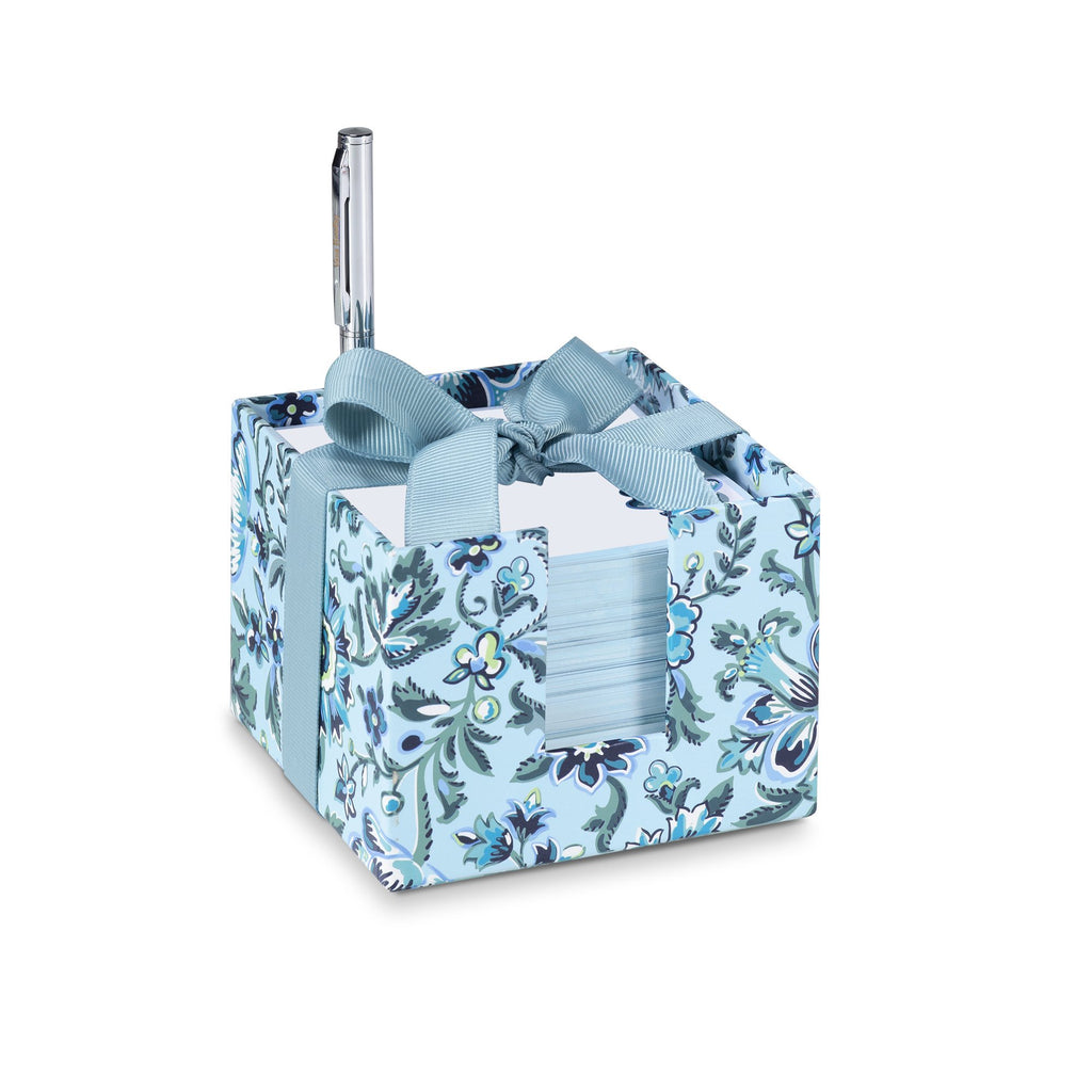 vera bradley notecube with pen, cloud vine