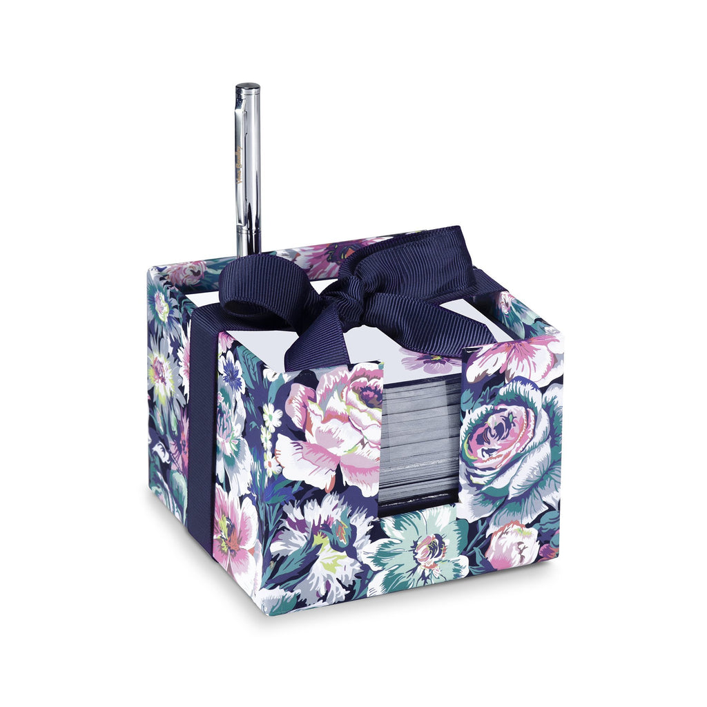 vera bradley notecube with pen, garden grove