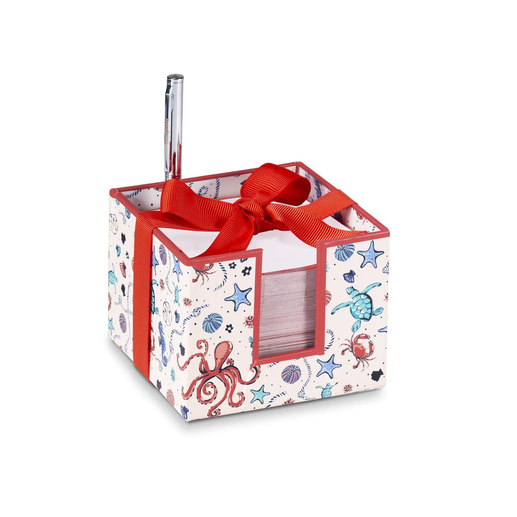 vera bradley notecube with pen, sea life