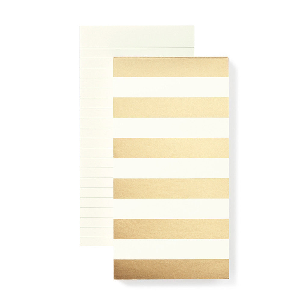 kate spade new york large notepad - gold stripe - lifeguard-press