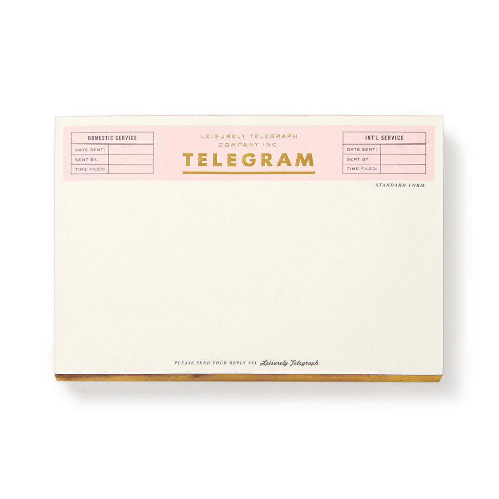 kate spade new york notepad - telegram - lifeguard-press