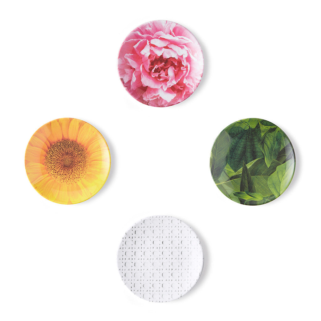 kate spade new york melamine tidbit plate set - patio floral - lifeguard-press - 1