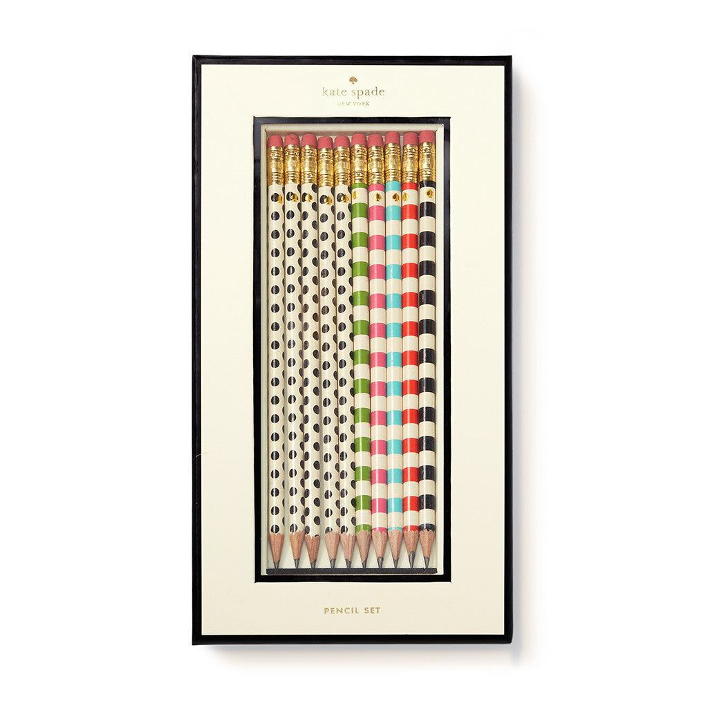 kate spade new york pencil set - dot the i's - lifeguard-press