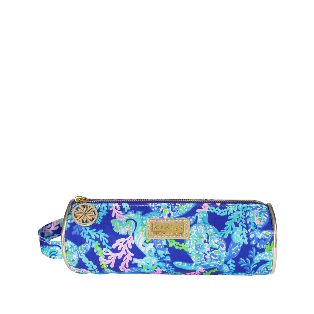 Lilly Pulitzer Pencil Pouch, Turtle Villa