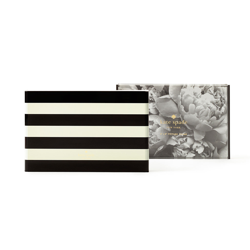kate spade new york picture frame - black stripe - lifeguard-press