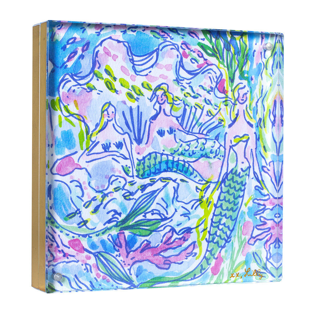 Lilly Pulitzer Acrylic Picture Frame - Mermaid (Gold) - lifeguard-press - 1