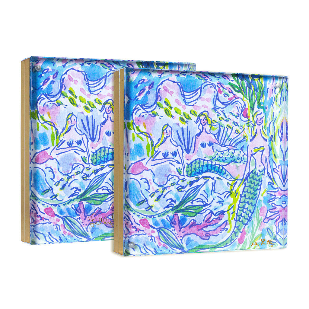 Lilly Pulitzer Acrylic Picture Frame - Mermaid (Gold) - lifeguard-press - 2
