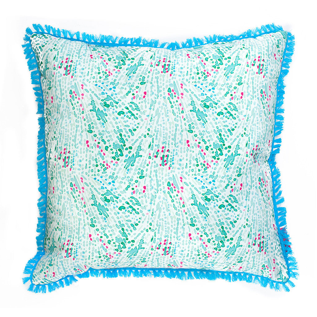 Lilly Pulitzer Large Pillow - Coral Cay - lifeguard-press - 2