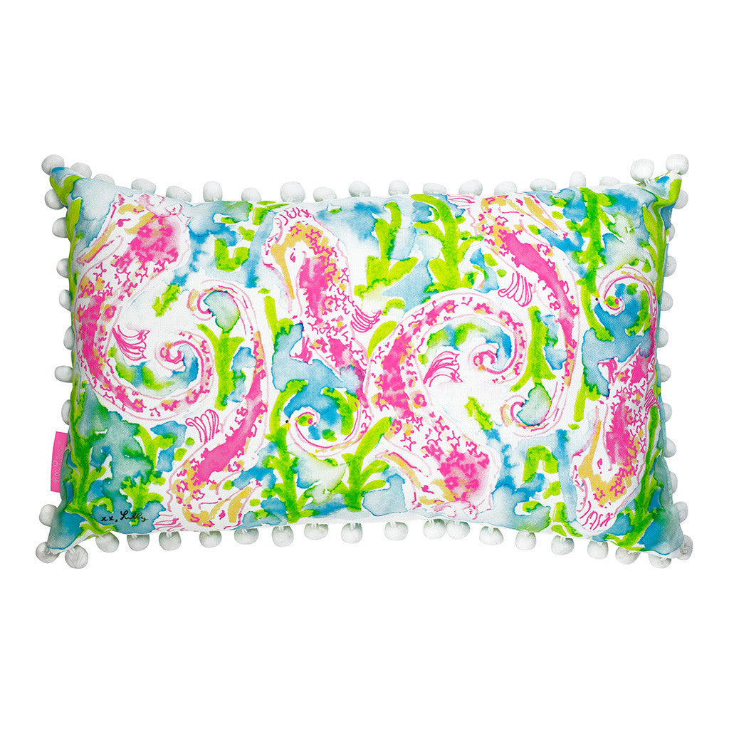 Lilly Pulitzer Medium Pillow - Seahorse - lifeguard-press - 1