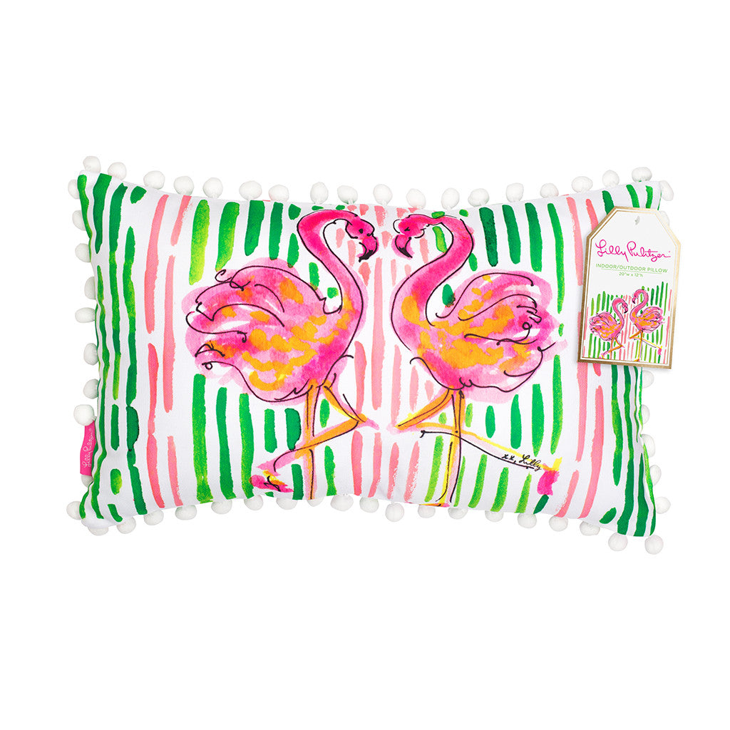 Lilly Pulitzer Medium Pillow - Flamingo - lifeguard-press - 1