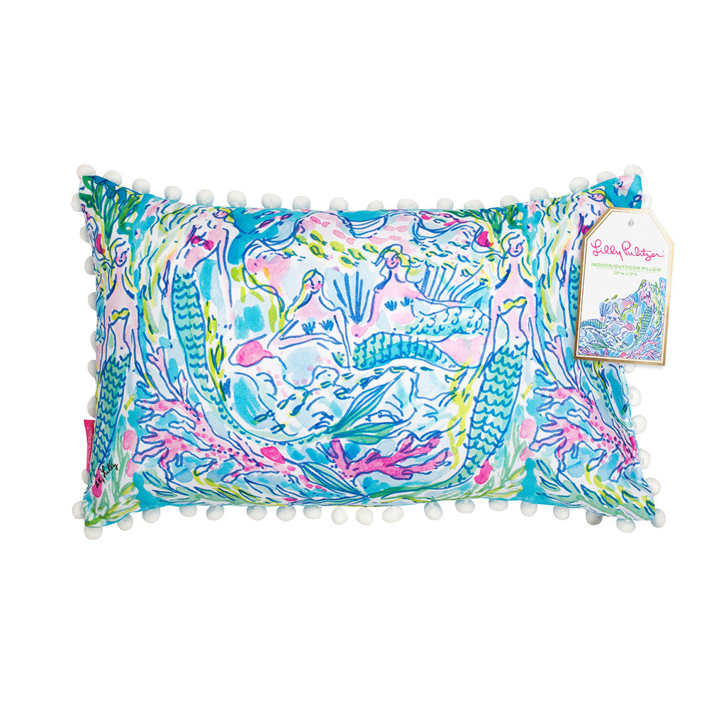 Lilly Pulitzer Medium Pillow - Mermaid - lifeguard-press - 1