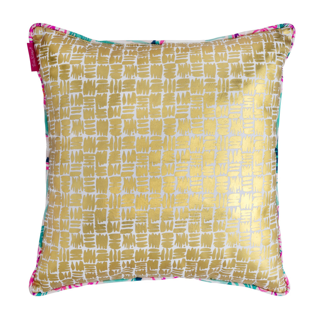 Lilly Pulitzer Large Pillow, Via Flora