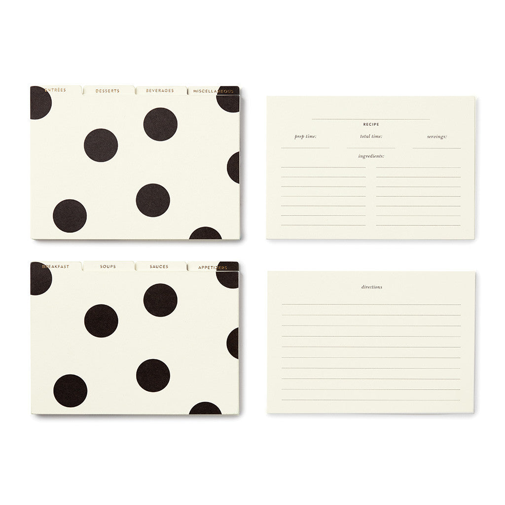 kate spade new york deco dot recipe box - lifeguard-press - 2