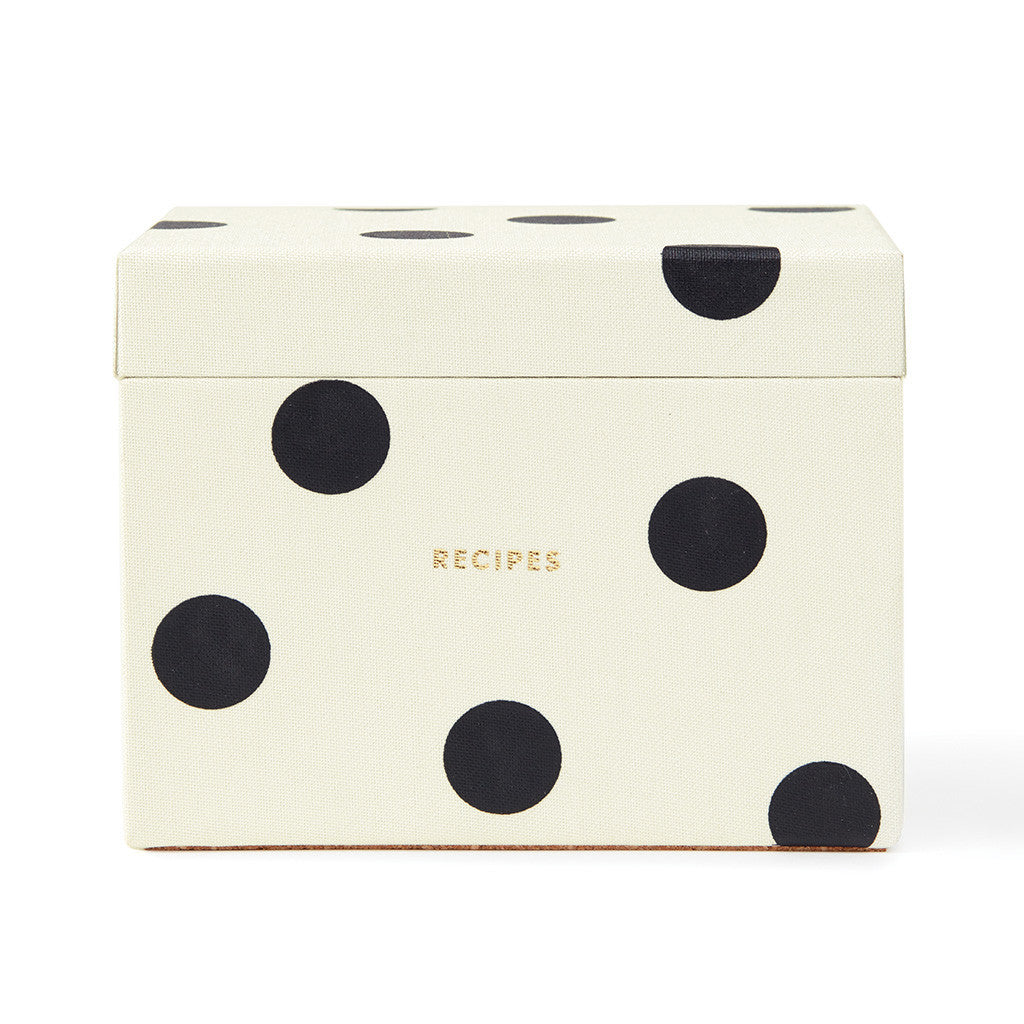 kate spade new york deco dot recipe box - lifeguard-press - 1