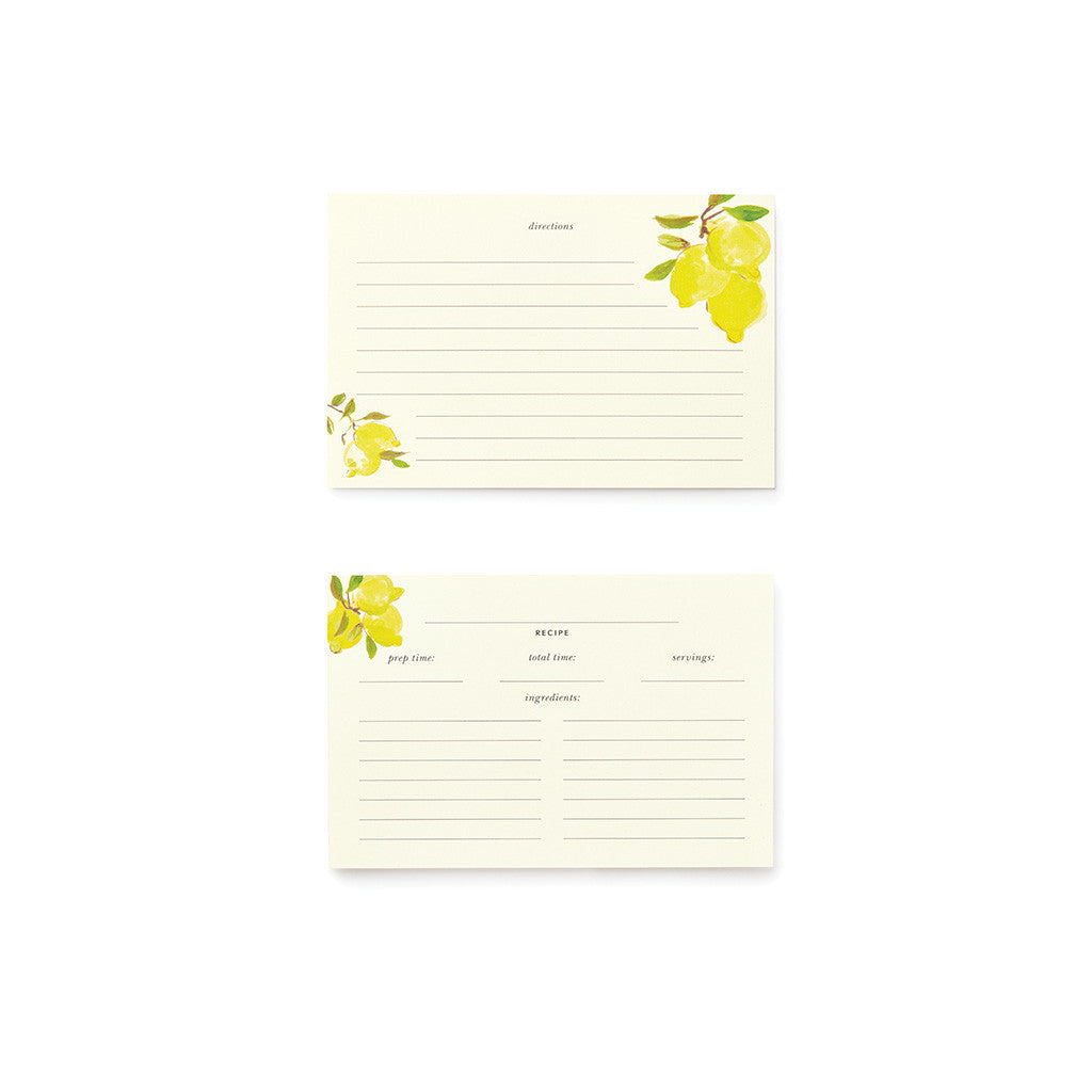 kate spade new york recipe card refill - lemons