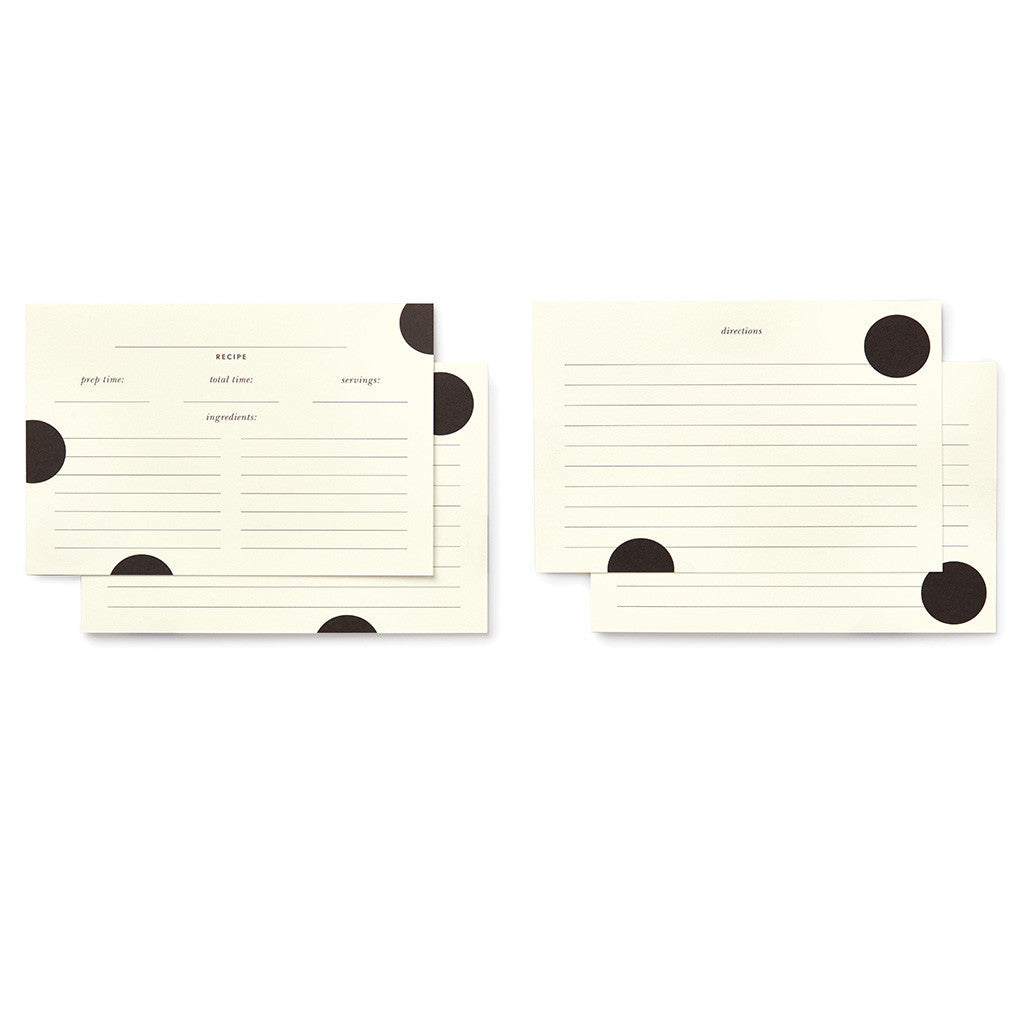 kate spade new york recipe card refill - deco dot