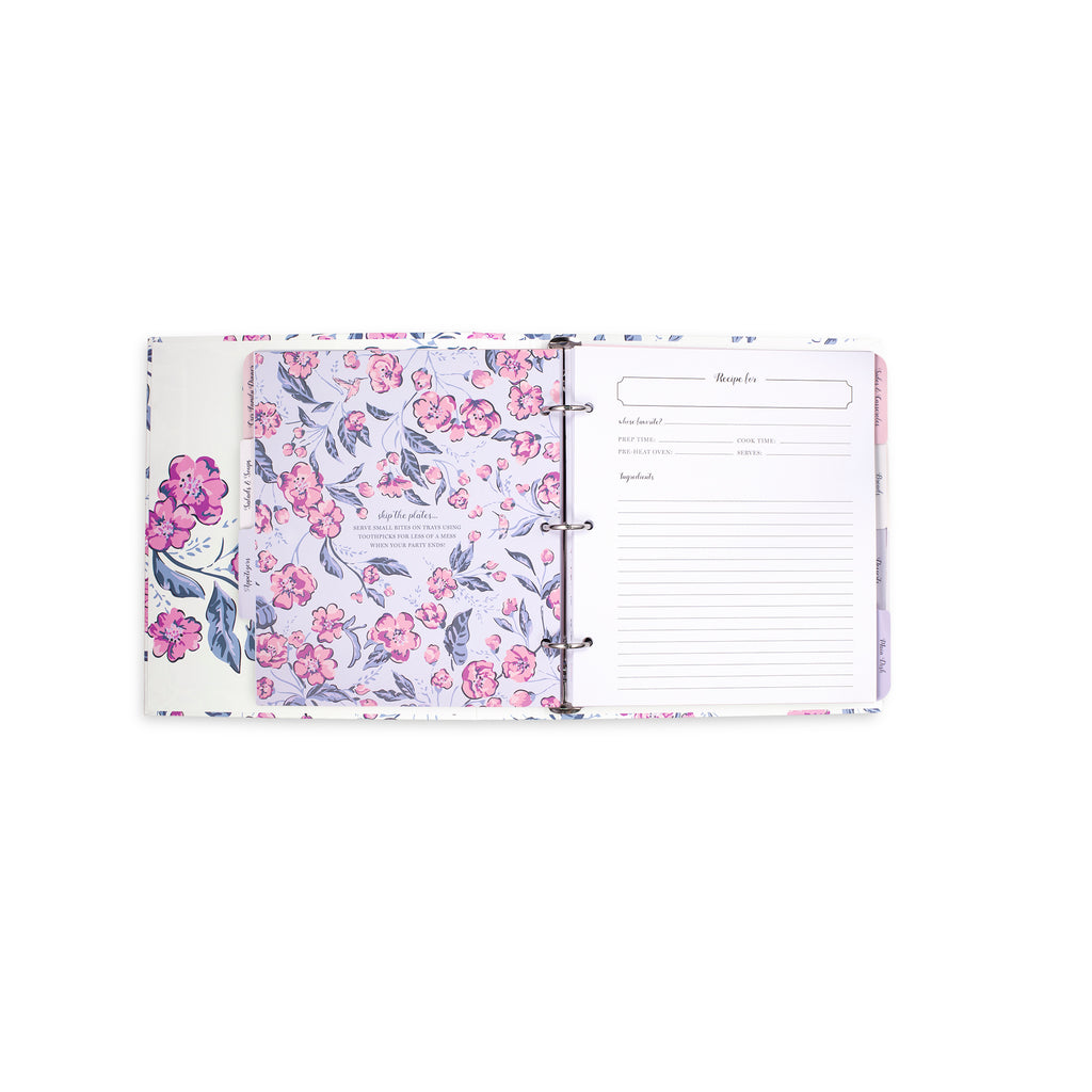 vera bradley recipe book, hummingbird ditsy